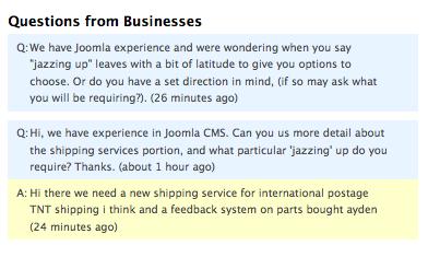 ServiceSeeking.com.au's Question & Answer Feature