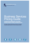 Business Services Pricing Guide Cover
